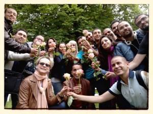 """La groupe """"Hannover"""" dans le jour de célébration de la fin des cours"""